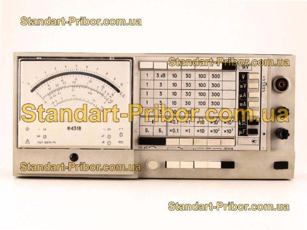 Ф4318 тестер, прибор комбинированный - фото 3