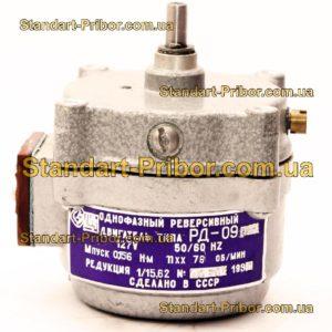 РД-09 76 1/15.62 двигатель реверсивный асинхронный, электродвигатель РД09 - фотография 1