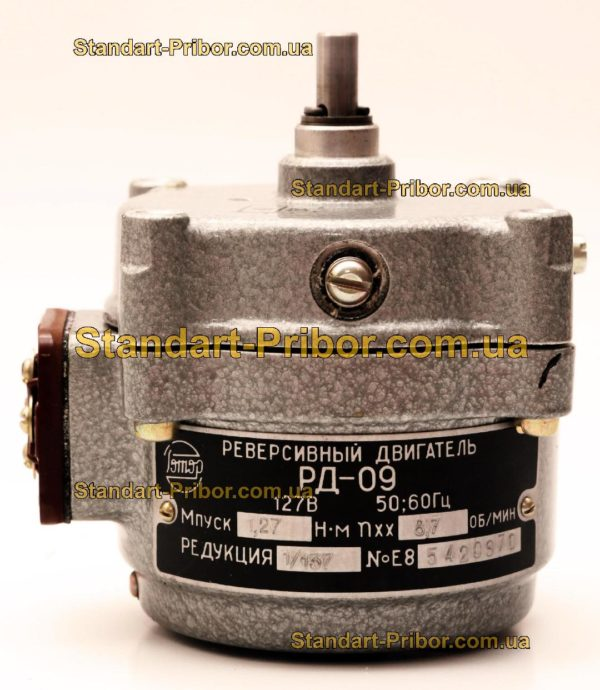 РД-09 8.7 1/137 двигатель реверсивный асинхронный, электродвигатель РД09 - фотография 1