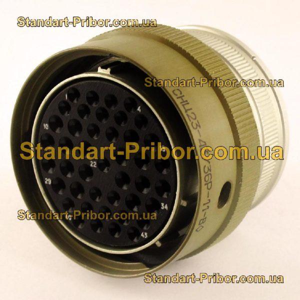 СНЦ23-43/36Р-11-В без контактов розетка кабельная - изображение 2