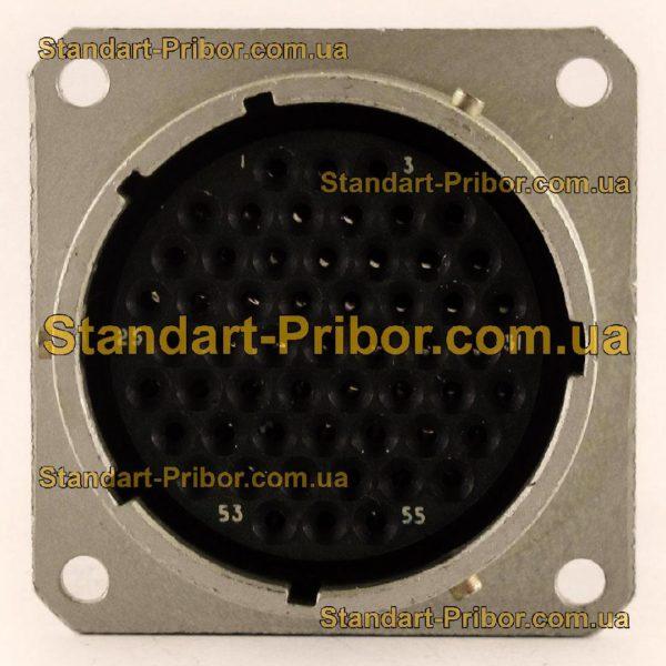 СНЦ23-55/33Р-2-б-В без контактов розетка приборная - фотография 4