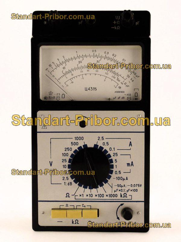 Ц4315 тестер, прибор комбинированный - изображение 5
