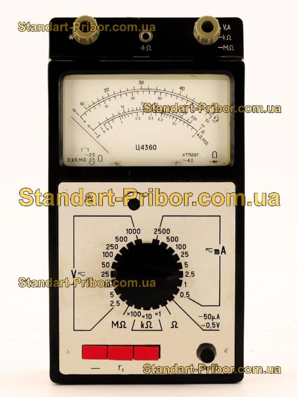 Ц4360 тестер, прибор комбинированный - изображение 2